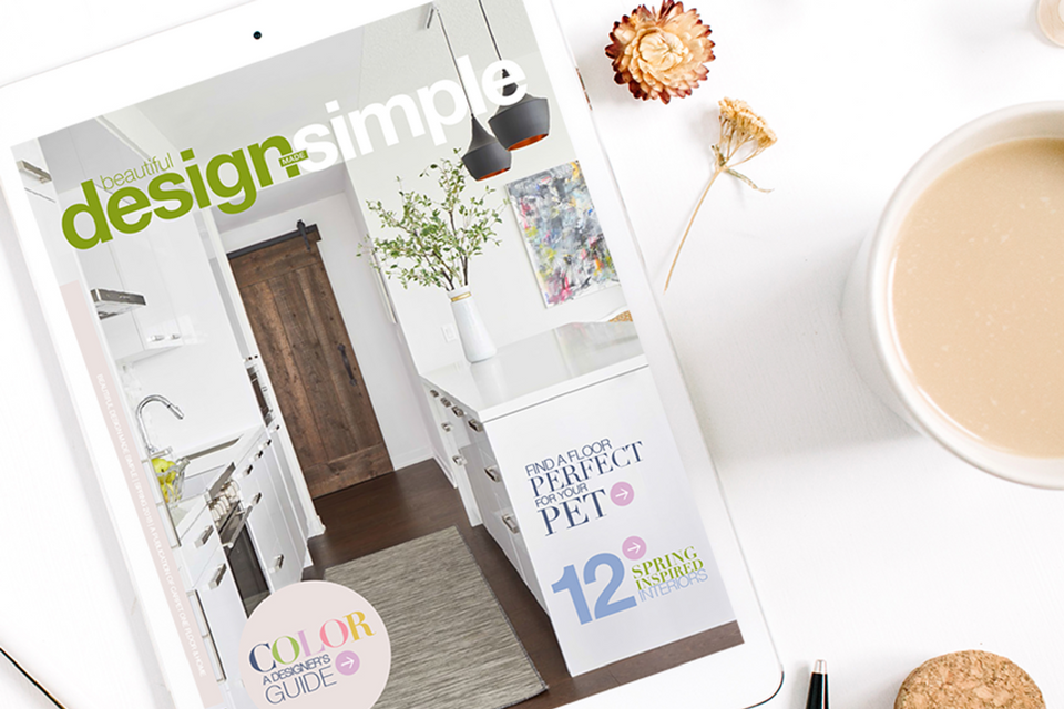Beautiful Design Made Simple Magazine Spring Cover